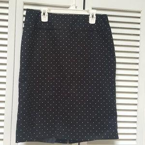Liz Claiborne knee legnth Pencil Skirt black sz 8